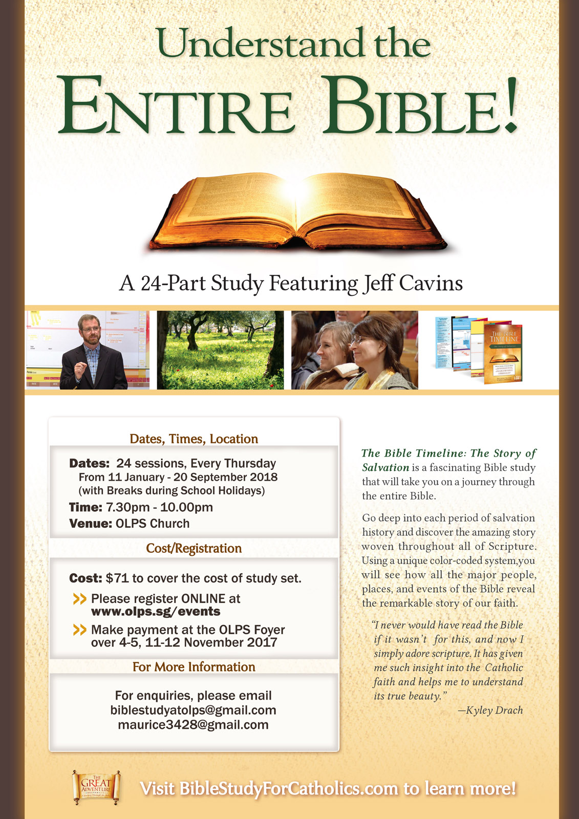 The Bible Timeline 2018   Church of Our Lady of Perpetual Succour