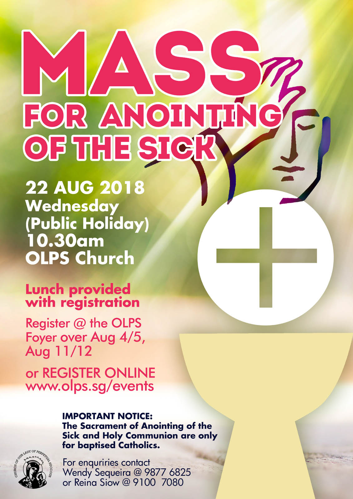 Mass For Anointing Of The Sick 2018 Church Of Our Lady Of