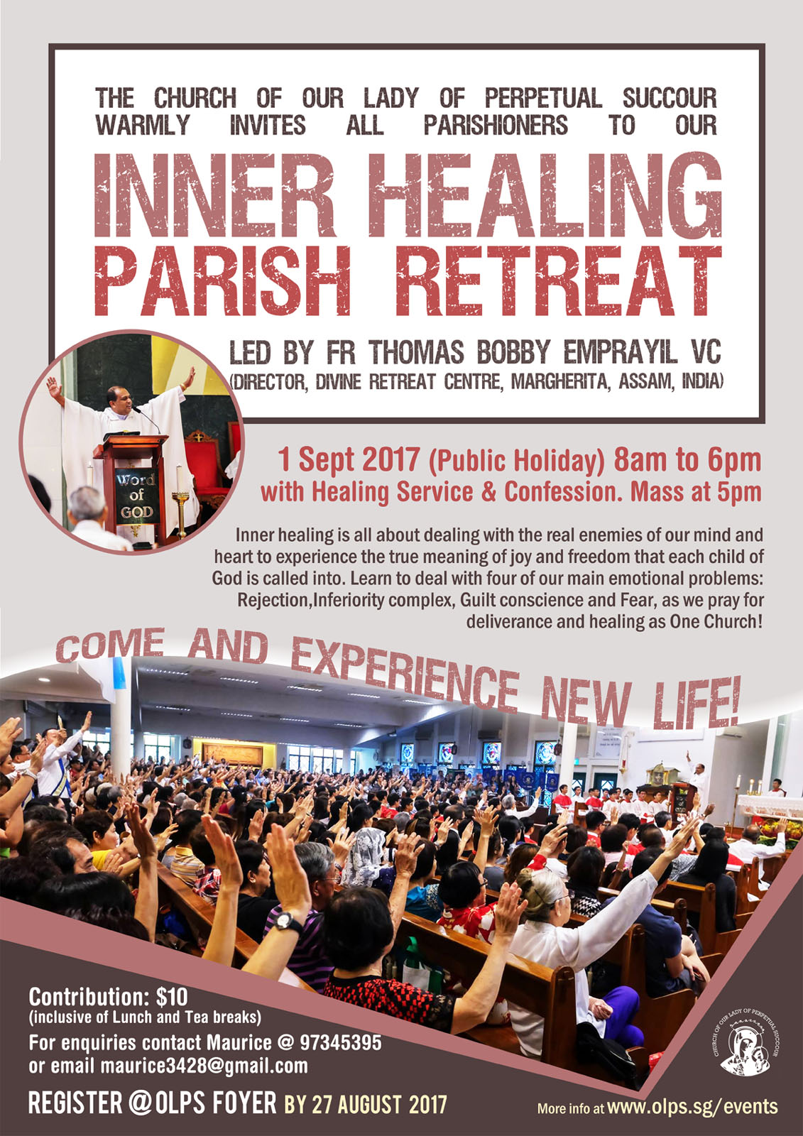 OLPS Inner Healing Retreat | Church of Our Lady of Perpetual Succour