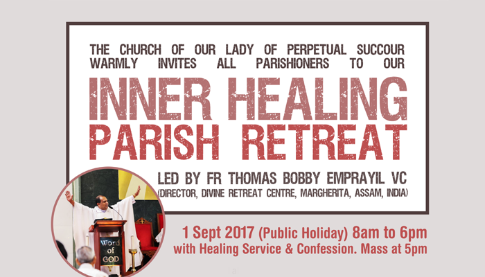 OLPS Inner Healing Retreat | Church of Our Lady of Perpetual